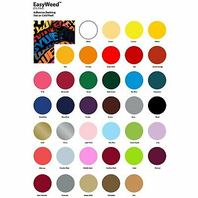 "SISER EasyWeed Heat Transfer Vinyl HTV 12""x 60"" FOR T-SHIRTS/TEXTILE"