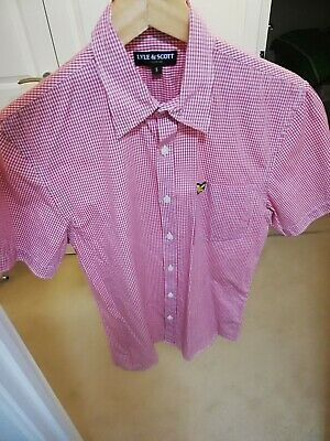 Great Boys Red Checked Shirt From Lyle & Scott, Size S (14)