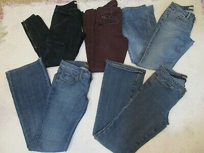 womens juniors 5 Pc. high end size 27/4 jeans  Frankie B  J Brand Joes Jeans,