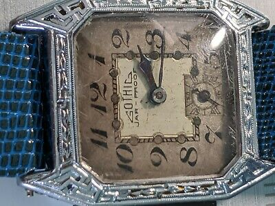 Gothic Jar Proof Early 1920s Swiss Made Art Deco Men's Works 10k Gold Filled NR