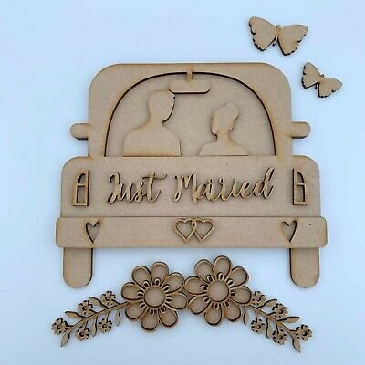 290mm x 158mm MDF Quotes Just Married