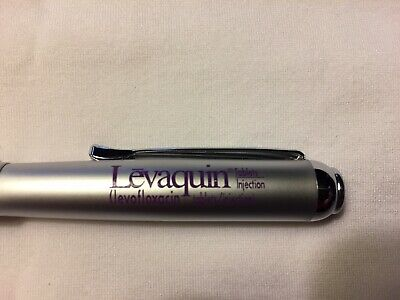 New Levquin Heavy metal Gripper Pen Promo Drug Pharma Rep Pharmaceutical Mint