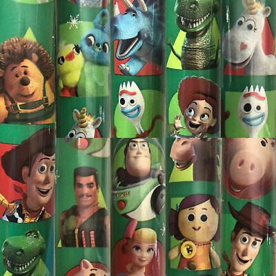 x//large 1m sheet disney toy story-woody-buzz-alien-rex-hamm gift wrapping paper