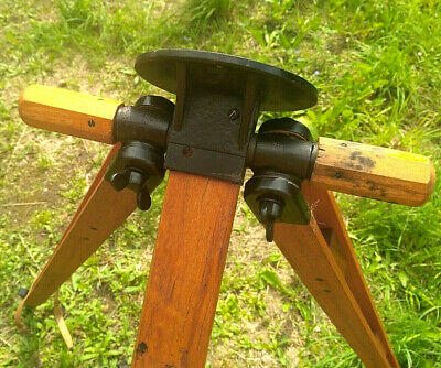 Tripod Decor Design Wooden Vintage USSR Soviet
