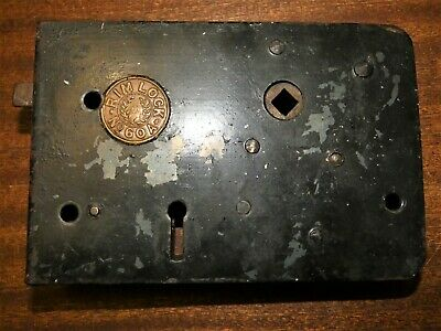 VINTAGE ANTIQUE DOOR LOCK - LATCH - Victorian brass cast metal iron