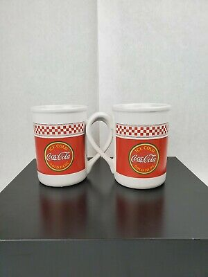 (2) Coca Cola  Brand  Coffee Mugs By Gibson