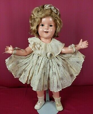Ideal 1930's Shirley Temple Composition Doll All Original W/ Sunburst Dress 18""