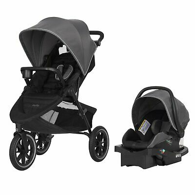 Evenflo Folio3 Stroller & Jog Travel System LiteMax 35 Infant Car Seat Crossover