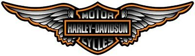 """22"""" HARLEY DAVIDSON WINGED BAR AND SHIELD PRINTED WINDOW DECAL Sticker"""