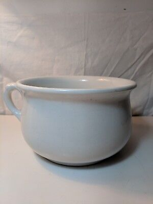 """Antique Chamber Pot White Stamped """"Extra Quality"""""""
