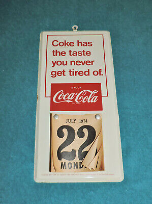 """Original 1960's Coca Cola Wall Calendar Sign Pad  """" Things Go Better With Coke """""""