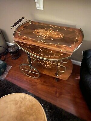 Vtg Italian Bar/tea Cart