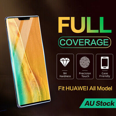 Huawei P30 P20 Mate 20 30 Pro Lite Full Coverage Tempered Glass Screen Protector
