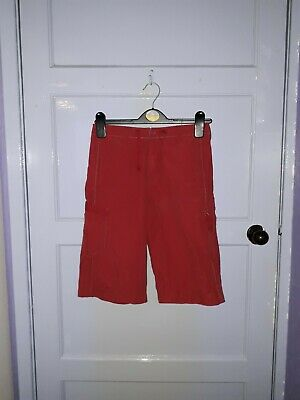 Boys Next Shorts Fixed Waist Red Colour Age 10 Years Height 140Cm