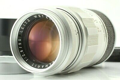 ?NEAR MINT+++? LEITZ Leica Elmarit M 90mm/F2.8 E39 Silver Chrome Lens Japan