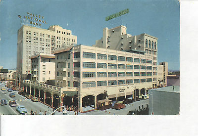 Central Avenue, Valley National Bank Hotel Adams, Phoenix, Arizona 1950s VINTAGE