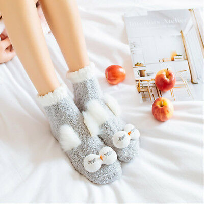 CWomen Ladies Girls Winter Warm Soft Fluffy Socks Cosy Lounge Bed Indoor Sock~
