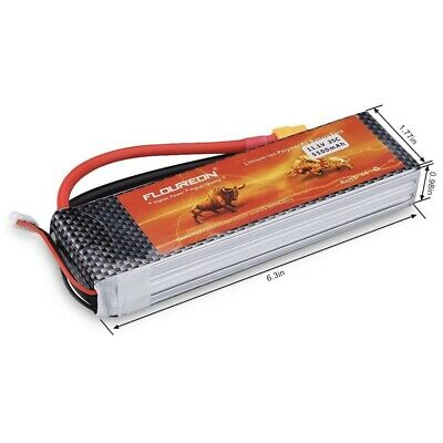 11.1V 5500Mah 3S 35C Lipo Battery Trx Plug For Rc Toys Helicopter Airpla