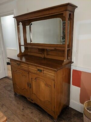 Antique Arts and Crafts sideboard /dresser / chiffonier with large mirror