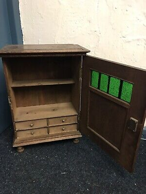 RARE Vintage Arts and Crafts Cupboard / Cabinet | Beautiful Glass Panelling