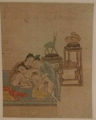 ANTIQUE CHINESE EROTIC WATERCOLOR LATE 19TH Century____7