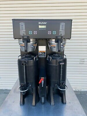 Bunn dual thermofresh DBC black coffee brewer with servers  -  FREE SHIPPING!
