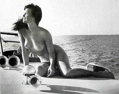 Bettie Page Nude At The Beach 8x10 Picture Celebrity Print