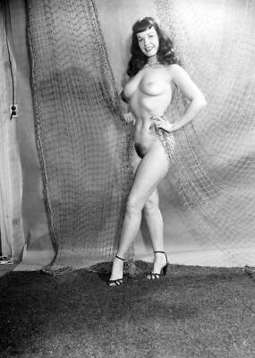Bettie Page Posing Nude 8x10 Picture Celebrity Print