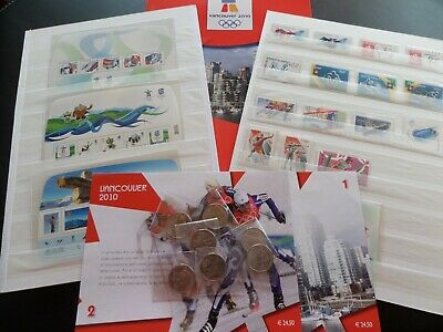 2395CANADA 2010 Vancouver Winter Olympics LOT MNH Stamps & Coins Album Bolaffi!