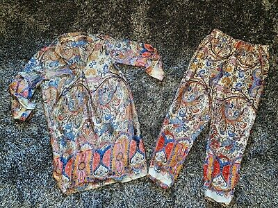 Immaculate - Akoz Paris Boutique Patterned Blouse & Trousers - Medium Co Ord