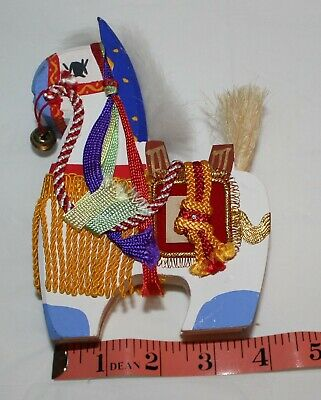 Small Antique Wood Carved Horse-Chinese (Oriental) Child's Toy Horse