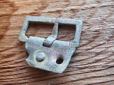 Medieval Britian.   Bronze Decorated Buckle With Pin.  Excellent Condition.
