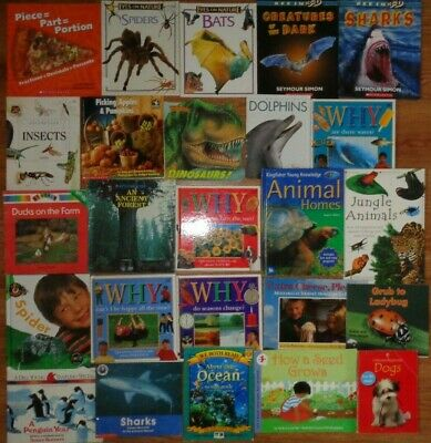 Lot of 10 Non-Fiction Children's Picture Books Unsorted Mixed Science