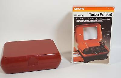 Vintage Panton Ära Krups Turbo Pocket Haarfön Reisefön Industrie Design in OVP