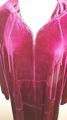 Joan Rivers Classics Collection with  Sz Robe S Zip Front Burgundy Red A271906