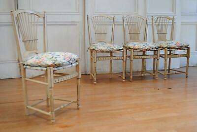 Antique Vintage Painted French Provincial Dining Chairs - Farmhouse Kitchen
