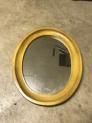Tell City Chair Company Solid Hard Rock Maple Yellow Oval Mirror
