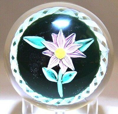 LARGE Beautiful Vintage MURANO Flower CLEMATIS Glass Torsade PAPERWEIGHT