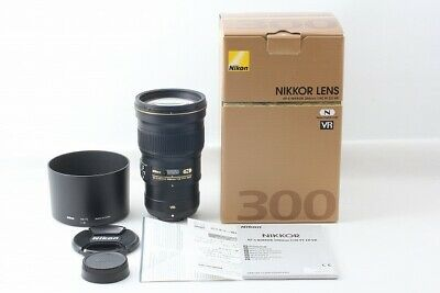 Nikon AF-S NIKKOR 300mm F4E PF ED VR lens Original Box Japan EXC++