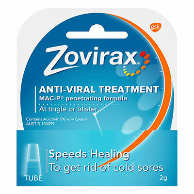 NEW Zorivax Antiviral Cold Sore Cream Tube Stops Virus Multiplying 2g