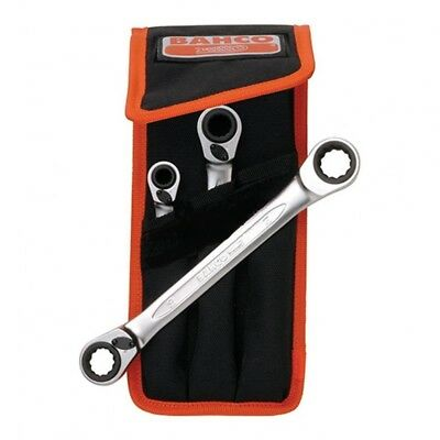 Bahco Ratchet Spanner Set In Wallet 3 Piece