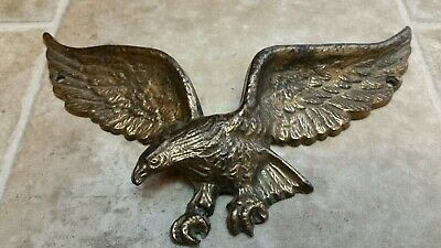 Vintage Brass American Eagle Wall Mount