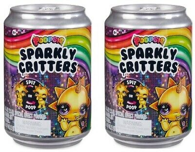 Lot of 2 Poopsie Sparkly Critters Can Magically Poop or Spit Slim