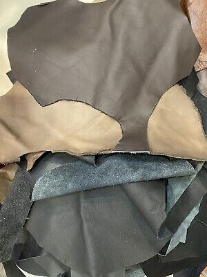 4kg Black And Brown Leather Off Cuts