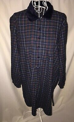 Victorias Secret Country Night Gown Sleep Wear Flannel Plaid Size S/M