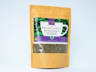 Q42 Organic Hemp Tea 100g RELAX & CHILL The natural Aid to Relaxation and Sleep