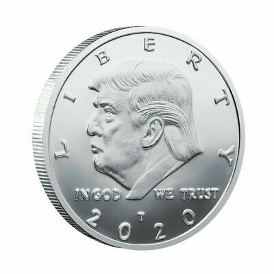 2020 President Donald Trump Liberty Silver Plated EAGLE Commemorative Coin BT04