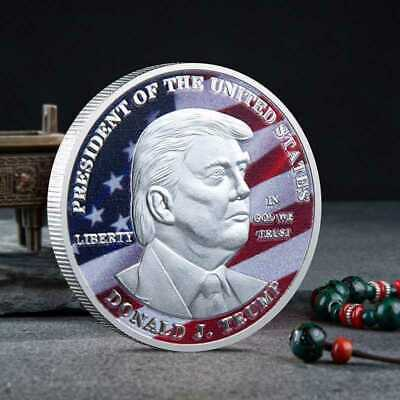 2020 President Donald Trump Inaugural Silver Plated Commemorative Novelty Coin A