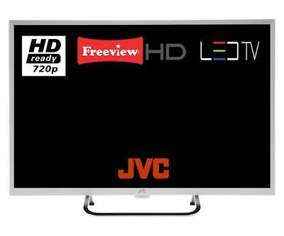 "JVC LT-32C491 32"" LED TV HD Ready With Freeview HD & Parental Lock White"