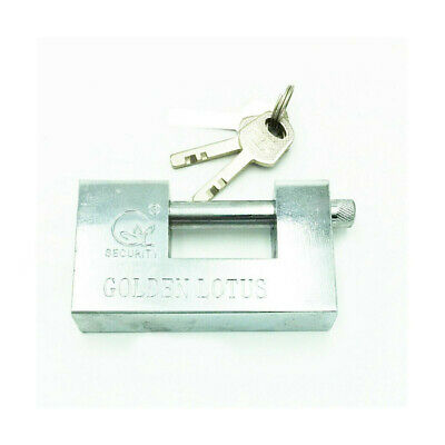 PADLOCK HOME OFFICE SECURITY LOCK HEAVY DUTY CONTAINER WAREHOUSE 2 KEYS 100MM